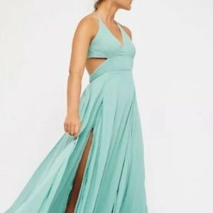 Free People Green Lille Maxi Dress XS